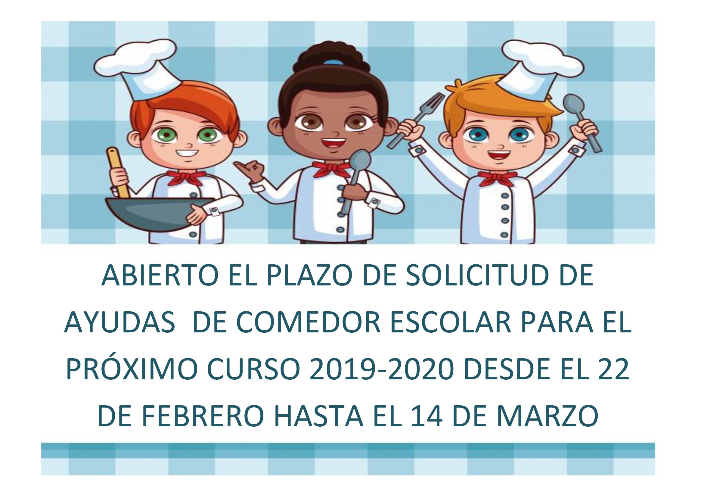 AYUDAS COMEDOR ESCOLAR CURSO 2019-2020 – Colegio El Ope